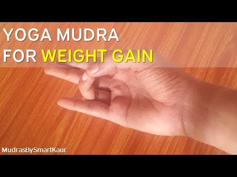 Yoga mudra for weight gain | No weight gain diet needed | English Version