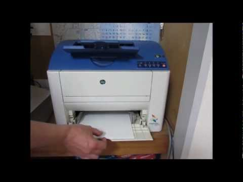 konica minolta mc 2400w test1 solve the problem yourself top rh youtube com Konica Minolta Toner Magicolor 1690 Konica Minolta Laser Printers
