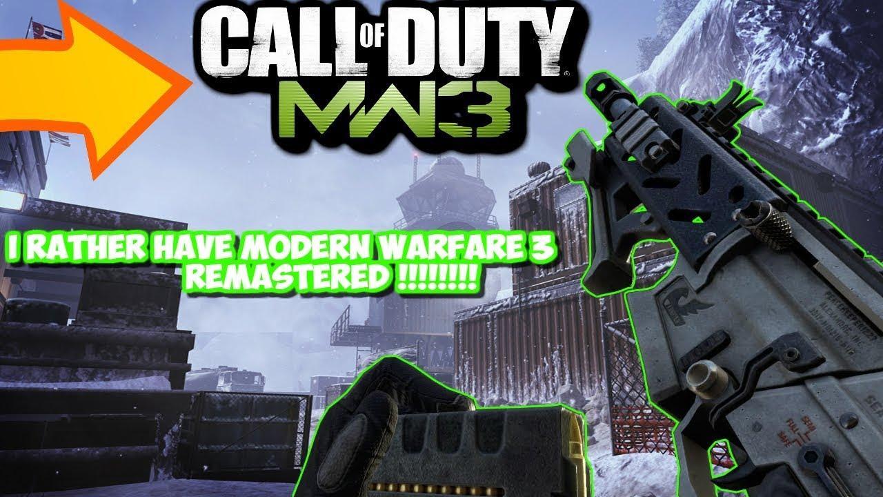 I Rather Have Modern Warfare 3 Remastered Than Modern Warfare 2