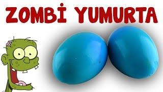 Zombi yumurta Nasıl Yapılır ? - Haşlanmış Mavi Renkli yumurta ( Zombie Eggs )