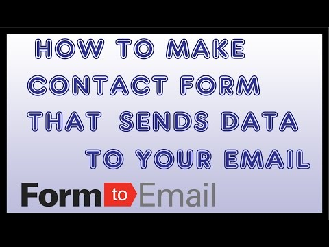 Make A Custom Contact Form For Website | Submits & Send To Email [HOW TO]