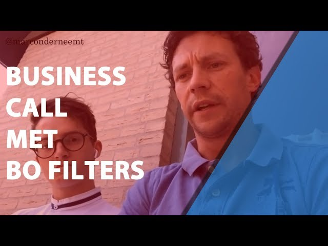 Business Call met BO Filters