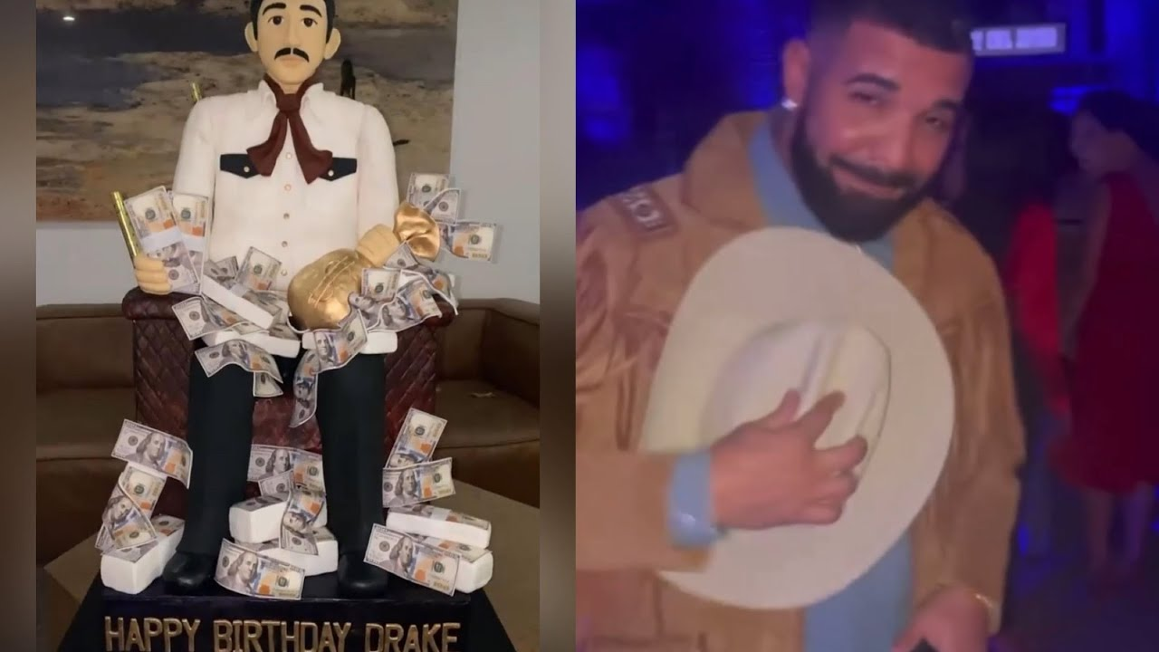 Drake Celebrates 35th Birthday with Narcos-Themed Party