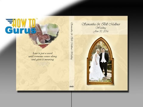 How To Design A Wedding DVD Cover In Adobe Photoshop Elements 2018 15 14 13 12 11 Tutorial