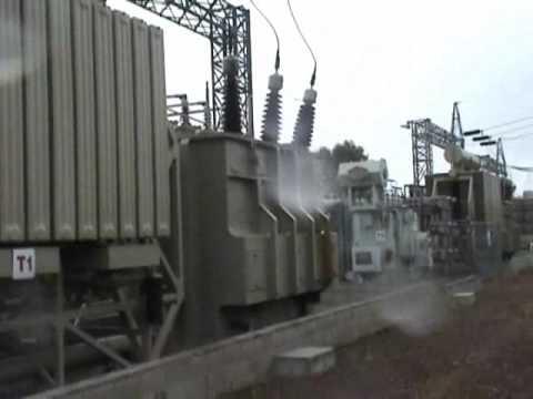 High voltage transformer explosion