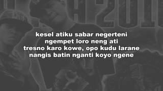 Lirik lagu Ndx aka~Nyikso batin