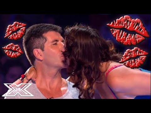 SNOGGING SIMON COWELL! Contestants and Judges KISS Simon Cowell | X Factor Global
