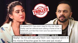 Rohit Shetty TROLLED For Supporting Sara Ali Khan With Saif Ali Khan | Nepotism Debate