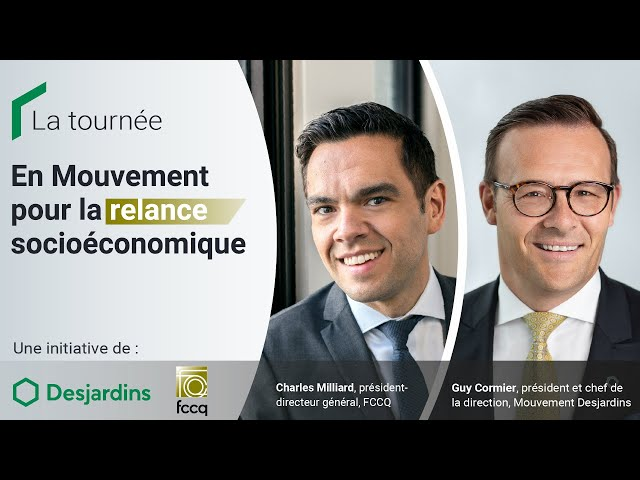 Lancement de la tournée En Mouvement pour la relance socioéconomique avec Desjardins