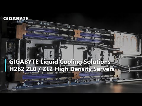 GIGABYTE Debuts Liquid Cooled High-density Servers