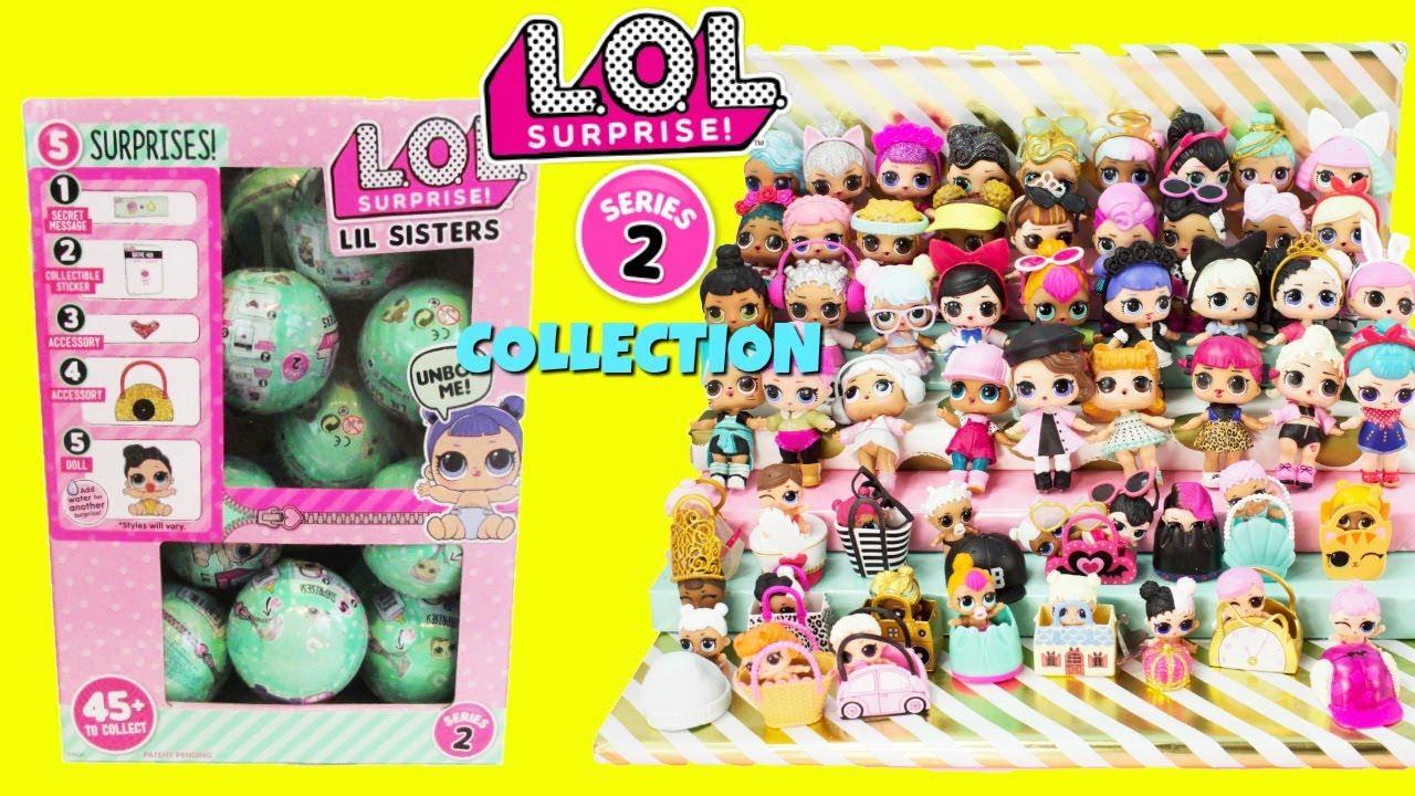 Lets Be Friends! Series 2 Wave 2 Set of 6 LOL Surprise Dolls Lil Sisters