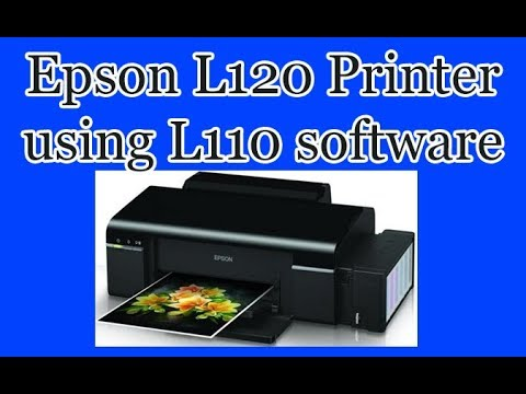 Epson L120 printer using L110 software