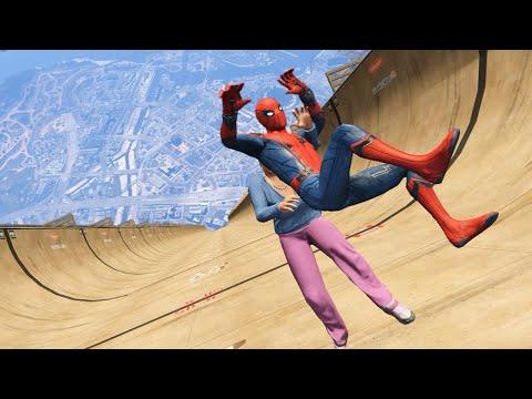 GTA 5 Epic Ragdolls   Spider-Man ep.52 (Euphoria Physics)