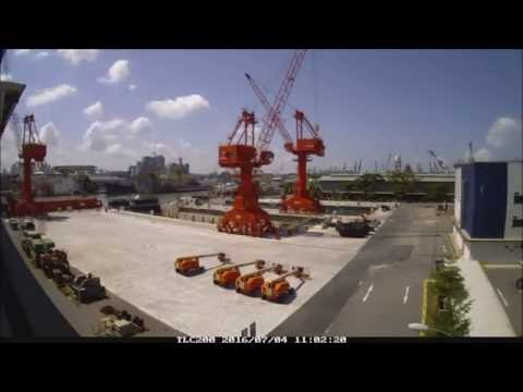 Pacific Radiance Dry Docks Construction - 1 min timelapse