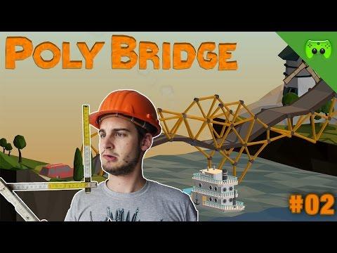 POLY BRIDGE # 2 - Der Brontosaurus - FULL HD 60 FPS - 동영상