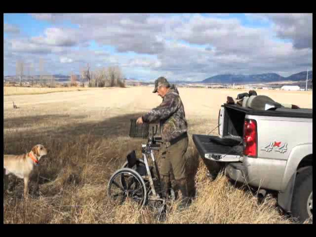 Walker Wheelchair Combo Use Bird Hunting (Walk'n'Chair)