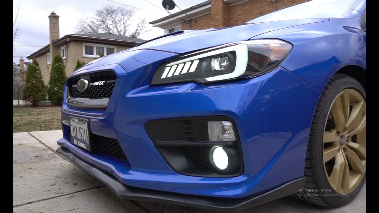Apollo V1 Headlights On 2017 Wrx