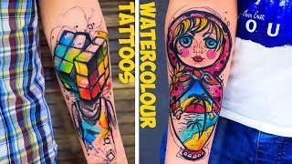Video Great Watercolour Tattoos by Vika KIWI download MP3, 3GP, MP4, WEBM, AVI, FLV Agustus 2018