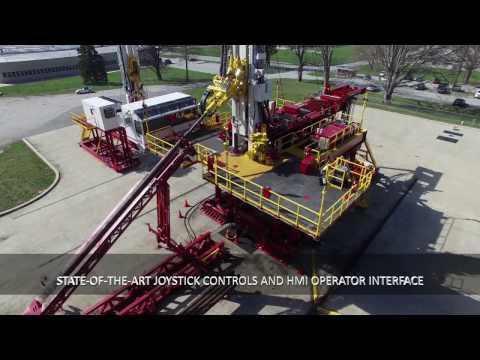 Schramm T500XD Pad Drilling Rig Video
