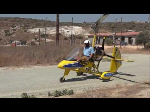 Aviomania Genesis G1sa gyroplane over Cyprus
