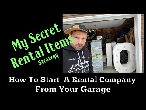 How To Start An Event Rental Business From Your Garage-My Secret Item Strategy