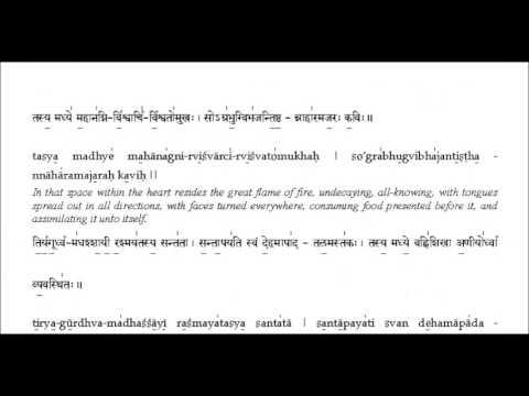 Narayana Suktam - With Lyrics for Learning ( Vishnu Mantra for Meditation )