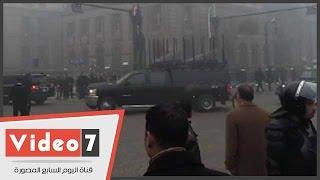 بالفيديو ... وصول وزير الدفاع الفريق أول صدقى صبحى إلى دار القضاء العالى