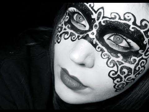 Halloween Makeup Tutorial 2: Mask of Mystery - YouTube