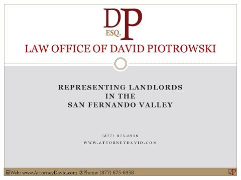 San Fernando Valley Landlord Eviction Lawyer