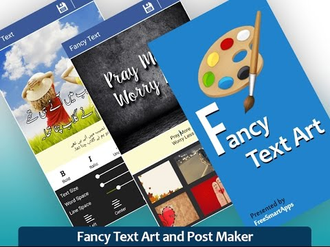 Fancy Text Art - Post Maker - YouTube