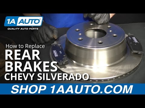 How to Replace Rear Brakes 14-18 Chevy Silverado