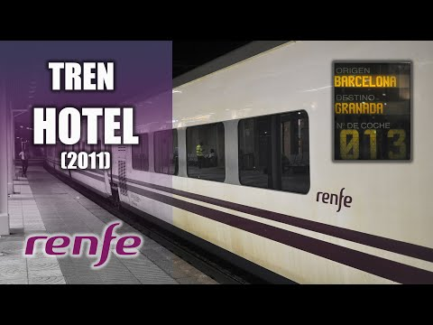 Tren hotel de renfe barcelona a granada 2011 youtube for Barcelona paris tren hotel