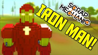 Scrap Mechanic Gameplay - EPIC Viewer Creations: Iron Man and Planet Express Ship!