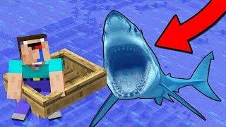 нуба съела акула!!! (майнкрафт сериал).
