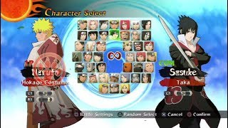 Naruto Shippuden: Ultimate Ninja Storm 2 All Characters [PS3]