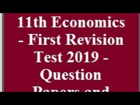 11TH ECONOMICS FIRST REVISION TEST ANSWER KEY 2020 - YouTube