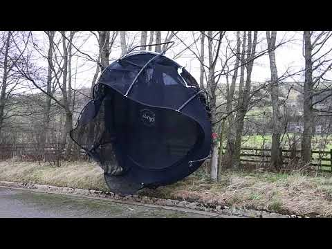 A 10ft Trampoline Blown Away In The Wind Of Storm Caroline