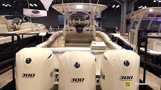 2015 Scout Boats 350 LXF Center Console Fishing Motor Boat - Walkaround - 2015 New York Boat Show