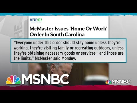 South Carolina Governor Issues Weak 'Home Or Work' COVID-19 Order | Rachel Maddow | MSNBC