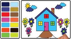 Belajar Menggambar Dan Belajar Mewarnai Rumah Sederhana Untuk Anak