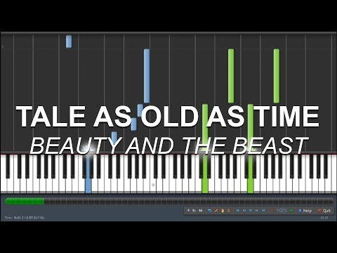 "How to play ""Tale As Old As Time"" from 'Beauty and the Beast' - Piano tutorial, sheet music"