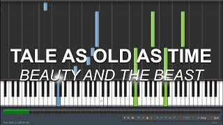tale as old as time piano sheet music roblox