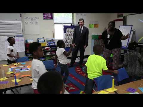 Gov. Roy Cooper visits E.M. Rollins Elementary School