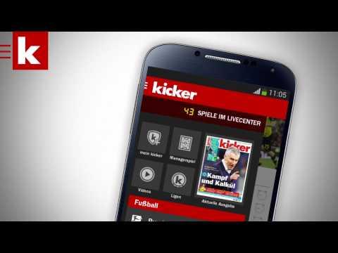 Die Neue Kicker Android App - Kicker.tv