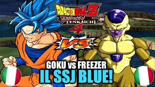 GOKU si TRASFORMA in SSJ BLUE vs GOLDEN FREEZER in ITALIANO DBZ Budokai Tenkaichi 3 #10 Gameplay ITA