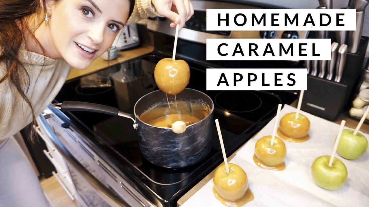 Homemade Caramel Apples w/ Brown Sugar, Cinnamon & White Chocolate! | Cooking with Cooper