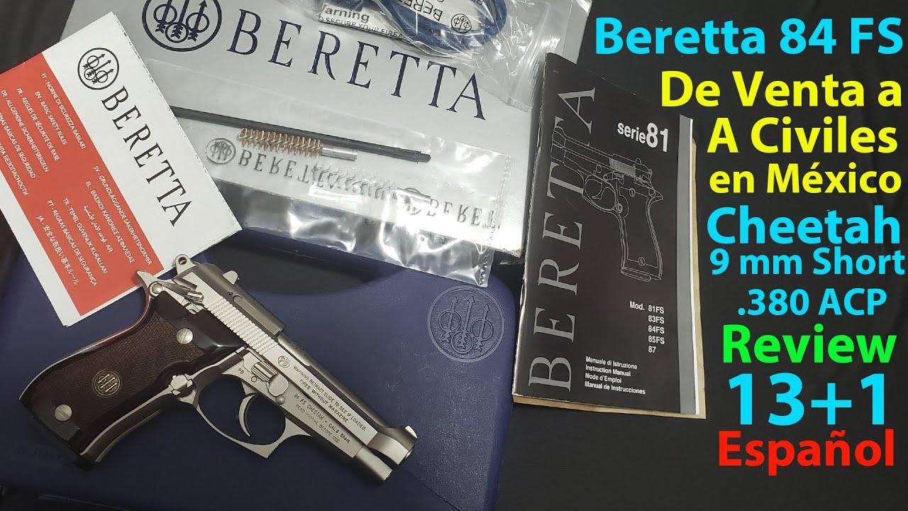 SEDENA México - Beretta Cheetah 9mm short o 380 - Review en Español