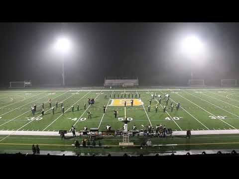 Blackhawk High School Marching Band Post Game Performance at BHS Stadium- October 5, 2018