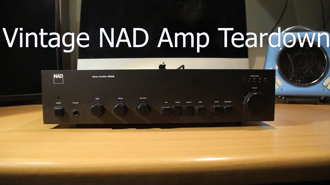 Vintage NAD Amp teardown