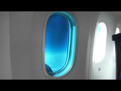 Boeing 787-8 Dreamliner Electric control cabin windows system